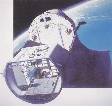 interior layout of space shuttle spacehab module