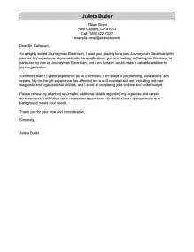 best journeymen electricians cover letter exles