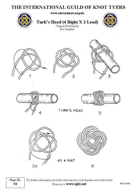 International Guild of Knot Tyers   Surrey Branch   53 Turk's Head   4 bight 3 lead