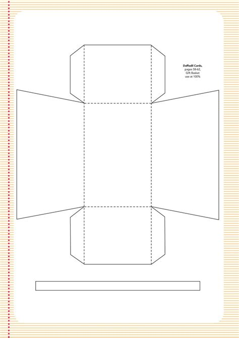 easter basket templates pinterest