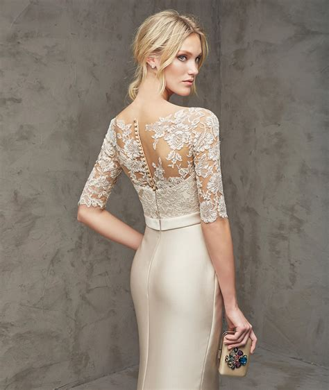 Liana Drees lace and tulle mermaid cocktail dress 2016 pronovias