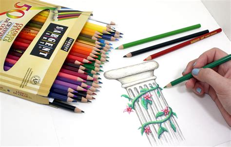 best colored pencils for artists sargent 22 7251 50 count assorted colored pencils