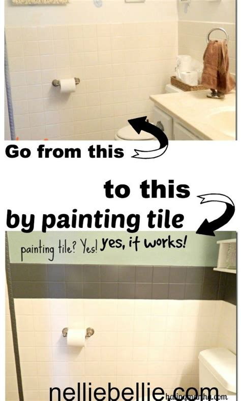 can i paint tile in my bathroom painting tile a tutorial from nelliebellie