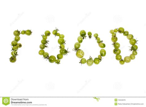 up letter with food food letters royalty free stock image image 16434676