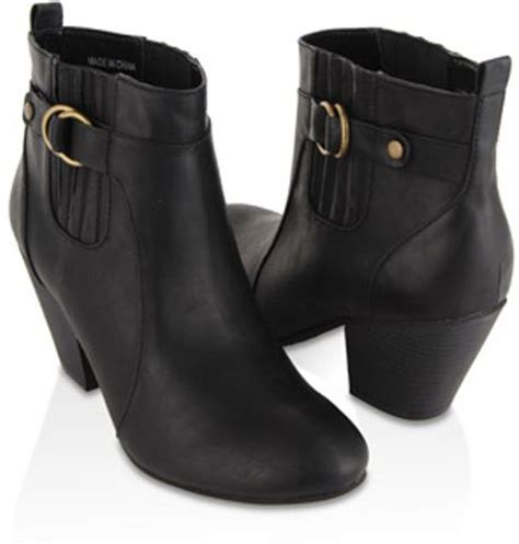 forever 21 ankle boots forever 21 buckled ankle boots in black lyst