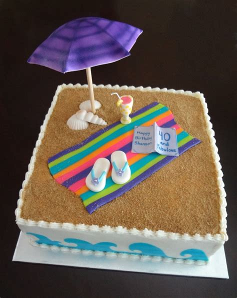 Simple Decoration For Birthday Party At Home by Beach Theme Cake Contest Cake Decorating Community