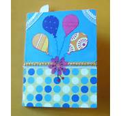 Balloon Cards Or Pop Up Birthday  Saumyas And Crafts