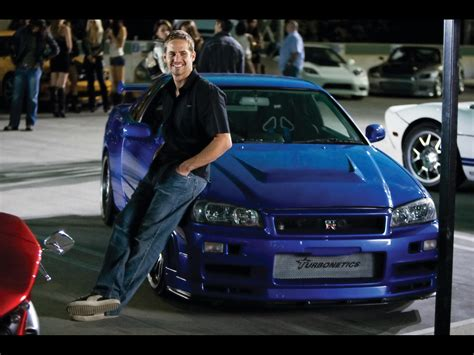 nissan r34 paul walker car top zine fast and furious in the eyes of a car fan