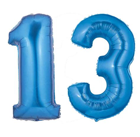 New Home Party Decorations by Blue Number 13 Balloon Large Number 13 Balloon Blue