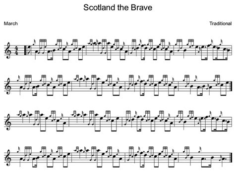 Scotland The Brave by Learn Scotland The Brave On The Bagpipes For Free