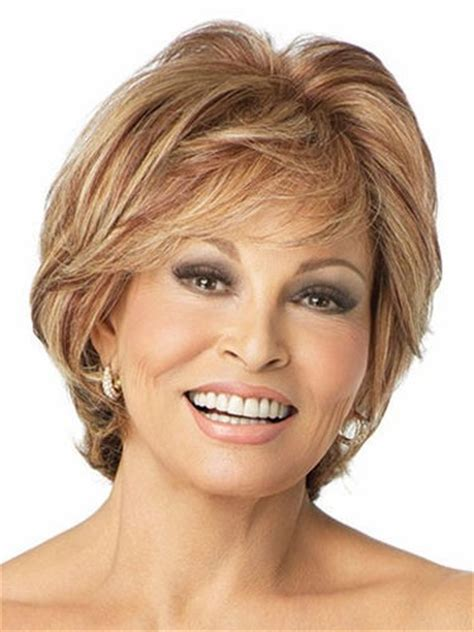 Hairstyles For 50 With Chins And Necks by Wavy High Quality Capless Constructed Synthetic Wig