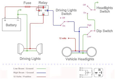 spotlight wiring diagram negative switching relay kit