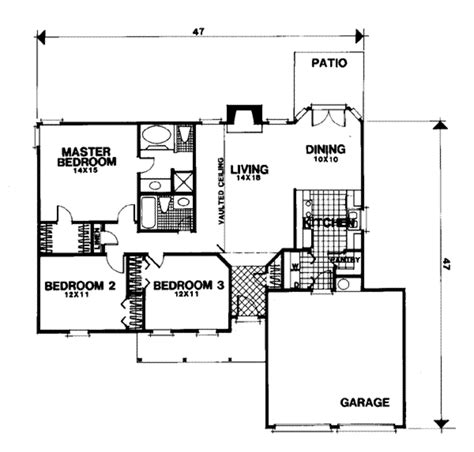 56 sq ft traditional style house plan 3 beds 2 baths 1338 sq ft