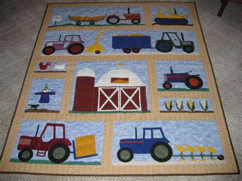 tractor quilt quilting