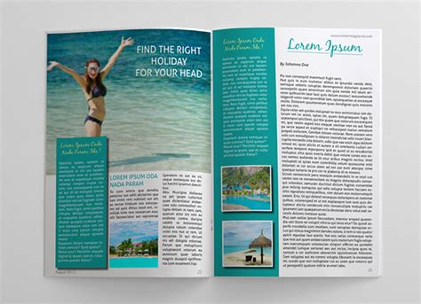 summer holidays magazine template on behance