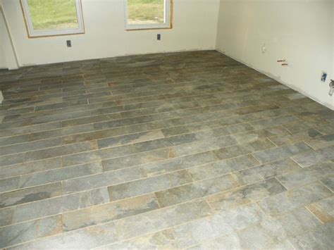 Black Slate Kitchen Floor Tiles by Kitchen Tile Style Selections 6 In X 24 In Ivetta Black