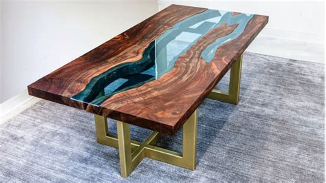 Live Edge River Table   Woodworking How To   YouTube