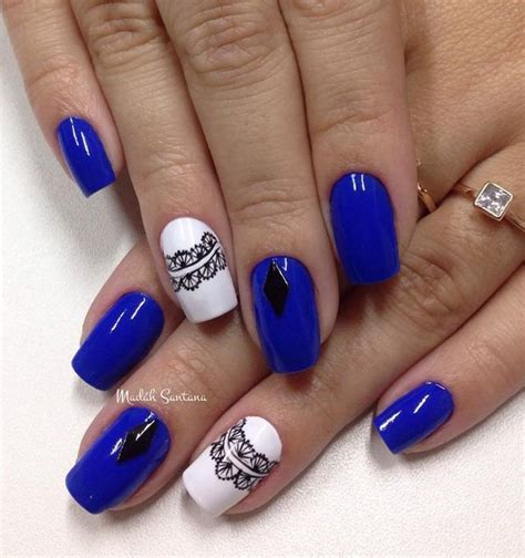 Blue And White Nail Designs