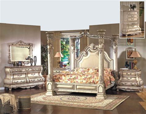 mcferran 4 pc monaco b9087 antique beige bedroom set
