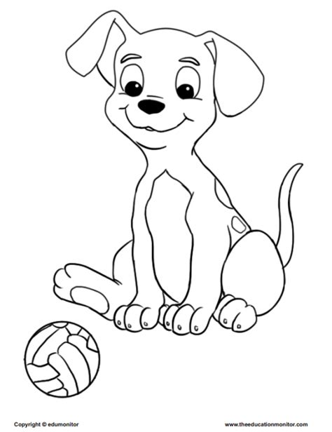 puppy playing coloring page puppy playing soccer coloring page edumonitor