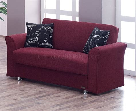 utah sofa bed in burgundy fabric by empire w optional loveseat