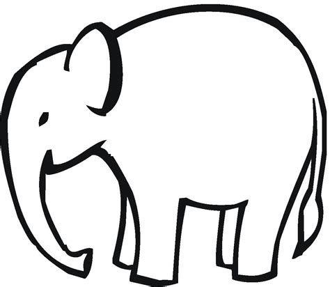 clip outline elephant outline clip cliparts co
