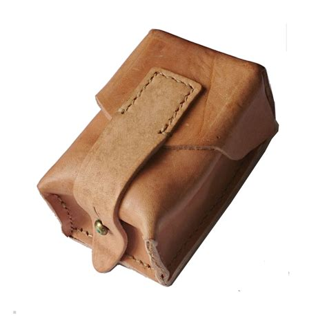 small vintage leather ammo pouch fitts any belt genuine army