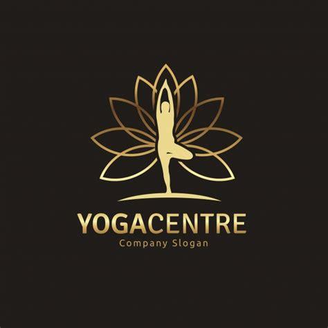 yoga imagenes logos logo dorado con dise 241 o de yoga descargar vectores gratis