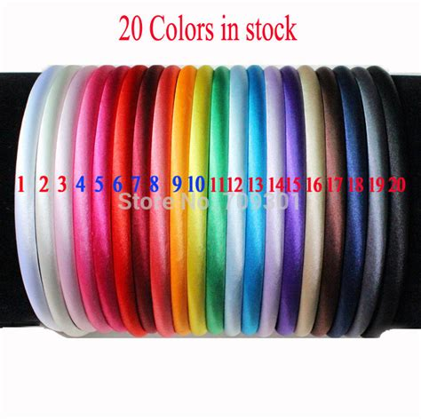 head bands for women over 60 free shipping 60 pcs 8mm solid girls satin headband