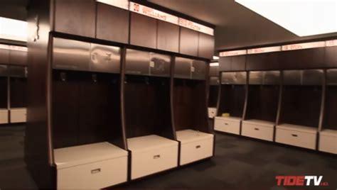 Alabama Locker Room by Alabama Unveils New 9 Million Football Locker Room