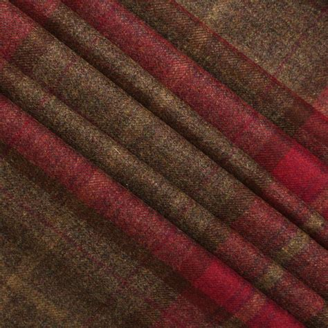Wool Plaid Upholstery Fabric by 100 Scotish Upholstery Wool Woven Tartan Check Plaid Curtain Tweed Fabric Ebay