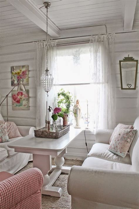 442 Best Cottage Living Rooms Images On Pinterest Shabby Chic Cottage