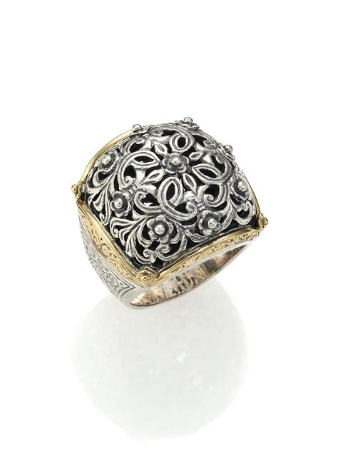 gold filigree konstantino classics 18k yellow gold sterling silver