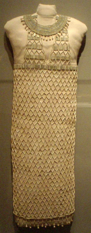 Dress Giza faience beadnet dress at museum of arts boston from