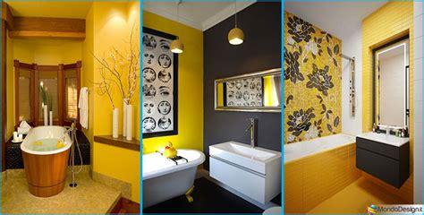 arredare bagni come arredare un bagno giallo ecco 15 idee originali