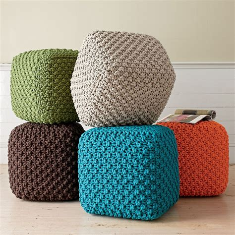 knitted ottomans pin by mary bonanno on global pinterest