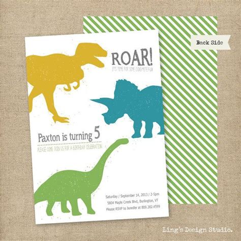 printable dinosaur invitation cards 74 best images about dinsosaur party on pinterest