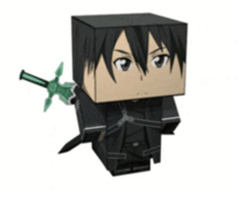 Kirito Papercraft - new paper craft sword kirito cube craft