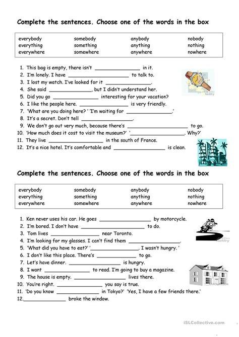 indefinite pronouns worksheet free esl printable