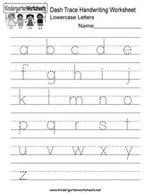 dash trace handwriting worksheet free kindergarten