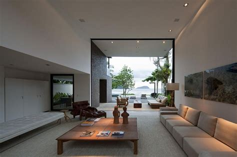 Relaxing Living Room by Architectural Blends With The Nature In Brazil