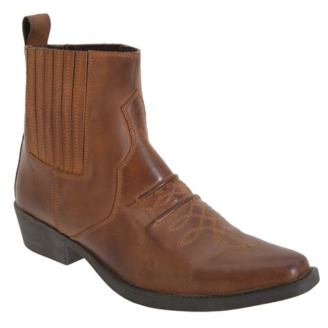 mens distressed leather boots gringos mens distressed leather gusset western ankle boots