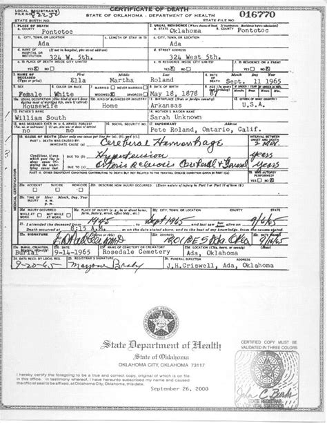 Oklahoma Marriage License Records Pontotoc Co Ok Vital Records
