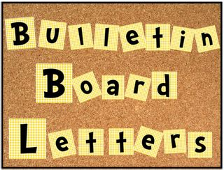free bulletin board alphabet and numbers set cute cute