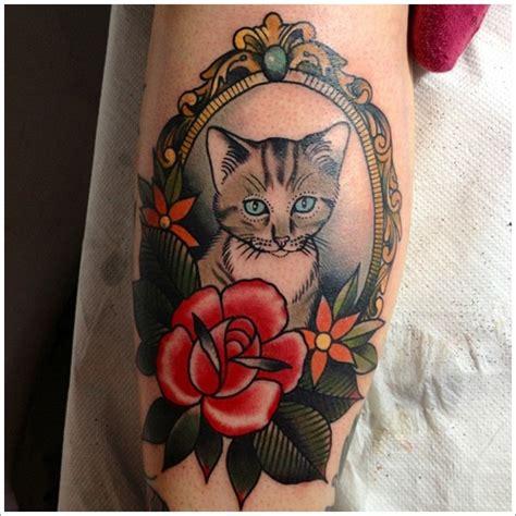 tattoo cat neo traditional cat tattoo designs ideas