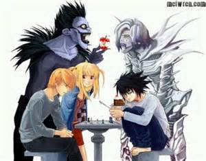 l light light ryuk misa l and rem deathnote anime