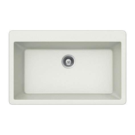 composite kitchen sinks problems houzer quartztone drop in composite granite 33 in single