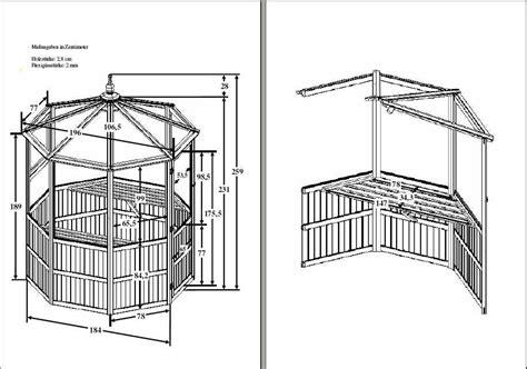 Pavillon 8 Eckig by Pavillon Holz Bauanleitung Pdf Kreative Ideen F 252 R Design