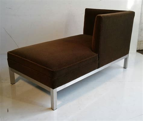velvet chaise lounge modernist aluminum and velvet chaise lounge for sale at