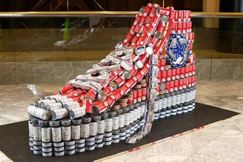 how to build a canned food sculpture amazing canned food sculptures my modern met